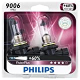 Philips 9006 VisionPlus Upgrade Headlight Bulb, Pack of 2