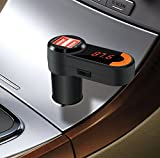 TUPELO NEW Bluetooth Car Charger, Hands-free Car MP3 Music Player ,Phone Receive/ Hang Up, FM Transmitter 2.1A Double USB Charger