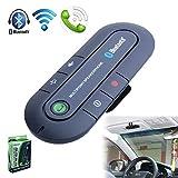 CurioCity(TM) Portable Multipoint Wireless Hands-Free Bluetooth Sun Visor In-Car Speaker Phone Car Kit (Black)