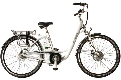 e-Moto 700c Electric Bicycle - in White Color