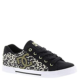 DC Women\'s Chelsea TX SP Skate Shoe, Leopard Print, 7.5 M US