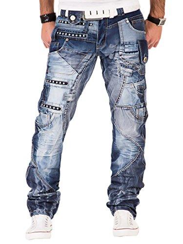 Kosmo Lupo Herren Jeans Hose Blau KM001 W34/L34