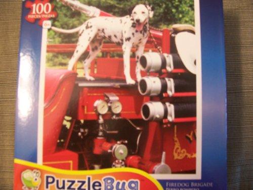 Puzzlebug 100 Piece Jigsaw Puzzle - Firedog Brigade - 1