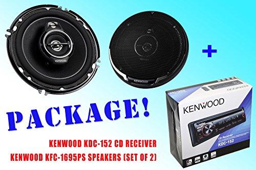 Package ! Kenwood Kdc-152 Cd-Receiver + Kenwood Kfc-1695Ps Car Speakers