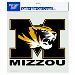 Buy NCAA Missouri Tigers 8-by-8 Inch Diecut Colored Decal by WinCraft
