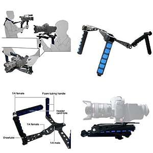 CamSmart DSLR Rig Shoulder Mount / Schulterstativ Schulterstütze DSLR-Stütze DSLR Rig Shoulder Mount für DV kamera Video Camcorder Camera DV DSLR Cameras, Canon 5D MK II, 7D, 60D, 600D (T3i), Nikon D90 D7000 D5100 D3100 D300s, Sony A65 A55, A33, A580, A560, DSR-PD198p, GH1, Gh2, GH3
