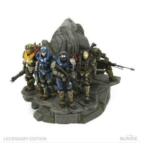 Picture of Bungie Halo Reach Legendary Edition NOBLE TEAM STATUE Figure (B004D99Y56) (Halo Action Figures)