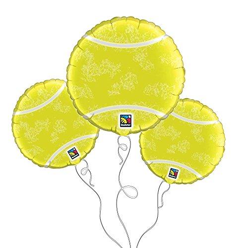 Tennis Ball Mylar Balloon -3pk