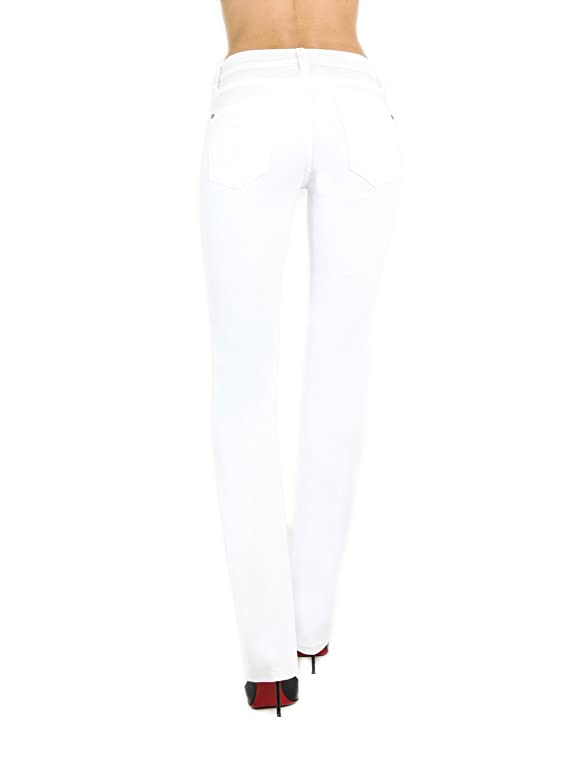 James Jeans Women's Straight Hunter Frost White