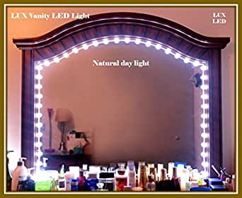buy luxdiyled white 6ft lux vanity mirror lights makeup mirror lights anti glare luxurious led. Black Bedroom Furniture Sets. Home Design Ideas