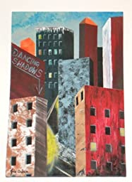 Modern ART Building / City Painting Titled: STREET CORNER SYMPHONY - 36\