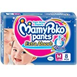 Mamy Poko Pant Style Medium Size Diapers (8 Count)
