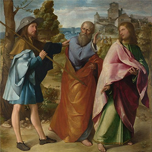 Oil Painting 'Altobello Melone - The Road To Emmaus,about 1516-17', 30 x 30 inch / 76 x 76 cm , on High Definition HD canvas prints is for Gifts And Gym, Home Office And Powder Room Decoration, family