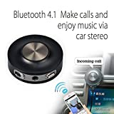Avantree Bluetooth V4.1 AUX Car Kit Receiver with Mic & USB Charger, Wireless Handsfree Audio Adapter, Stream Music and Call to Car Stereo - Cara Basic
