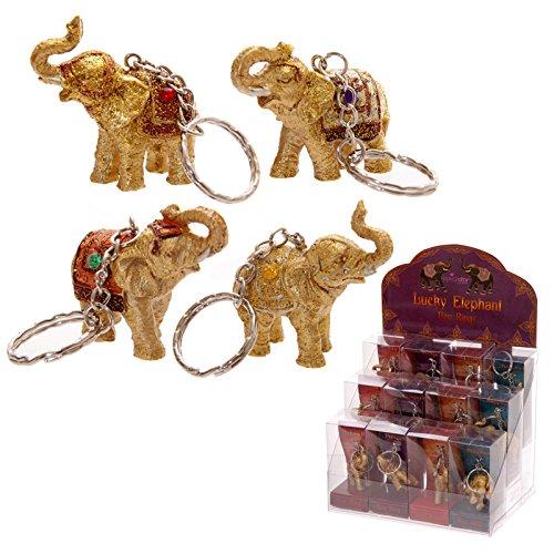 Elefante de la suerte juego cuchilllo llavero y soporte para incienso
