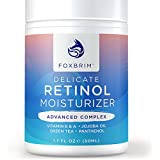 Premium Retinol Cream & Face Moisturizer - ADVANCED Complex - Proven Retinol in a Delicate Formulation - Anti Aging to Erase Wrinkles, Fine Lines and More - Amazing Results, Less Time - Foxbrim 1.7OZ