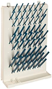 """Bel-Art Scienceware 189330013 Lab-Aire II Single-Sided Non Electric Wall-Mount Drying Rack, 14.75"""" Width x 5"""" Depth x 23.4"""" Height"""