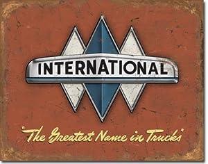 Amazon.com: International Truck Logo Distressed Retro ...