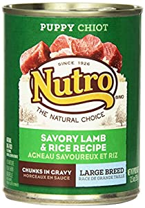 NUTRO Large Breed Puppy Savory Lamb and Rice Recipe Chunks in Gravy Canned Puppy Food (Pack of 12)
