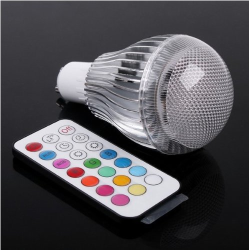 Rextin Gu10 9W Remote Control Color Changing Led Light Bulb Rgb Color Lamp 100 - 240V