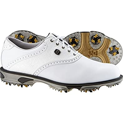 FootJoy 2013 DryJoys Tour Saddle Golf Shoes : White-White Lizard Wide 11