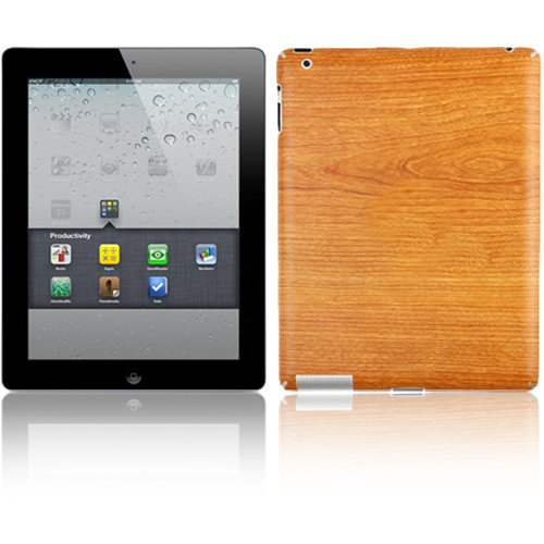 Skinomi Natural Light Wood Techskin & Screen Protector For Apple iPad 2 WiFi/CDMA Verizon by Skinomi