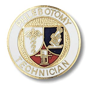 Prestige Medical Emblem Pin, Phlebotomy Technician