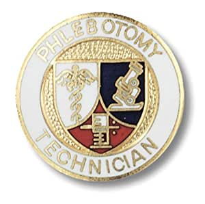 Prestige Medical Emblem Pin, Phlebotomy Technician