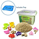 Cool Sand Deluxe Bucket With Inflatable Sandbox - Kinetic Sand For All Ages - Learning Set Edition