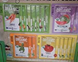 Certified Organic, Heirloom, Non-GMO Garden Seeds - Salad, Salsa, Fruit, Herb, Vegetable - Collection of 16 Varieties: Carrot, Tomato, Lettuce, Peppers, Onion, More