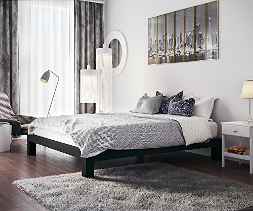 Stella Metal Platform Bed Frame - Modern, Finish - Thick and Wide Slats - Black (Beds Frames compare prices)