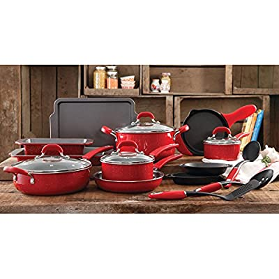 The Pioneer Woman Vintage Classic Speckle 20 Piece Kitchen Cookware Set