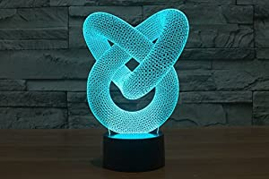 ADOGO LED 3D Lamp - Kids Desk Room Art Sculpture Lights up and Produces Unique Lighting Effects and 3D Visualization - Amazing Optical Illusion by ADOGO
