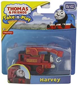 Amazon Com Thomas The Train Take N Play Harvey Toys Amp Games