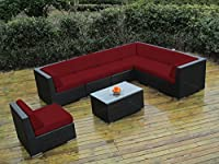 ohana collection PN0804 Genuine Ohana Outdoor Patio Wicker Furniture 8-Piece All Weather Gorgeous Couch Set with Free Patio Cover by Ohana Depot - DROP SHIP