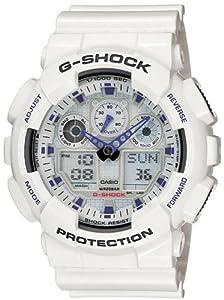 Casio Men's GA100A-7A G-Shock Ana-Digi White Resin Alarm Dive Watch