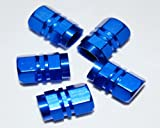 BLUE BULLET VALVE DUST CAPS FOR JAGUAR S X E TYPE XJ6 XJS XK XF