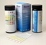 1 x 100 x 10 Parameter YERCON urine reagent strips Blood, Billirubin, Urobiligen, Ketone, Protein, Nitrite, Glucose, PH, Specific Gravity, Leucocytes ~ More pack sizes available, 200, 500 & 1000 strip packs
