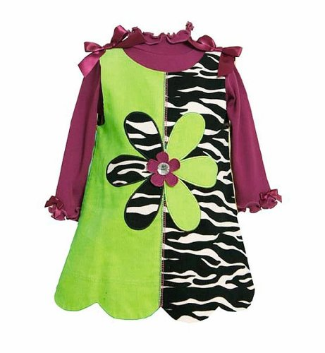 Bonnie Baby Infant Girls 2 Piece Lime Green & Purple Jumper, Size 3-6M front-988102