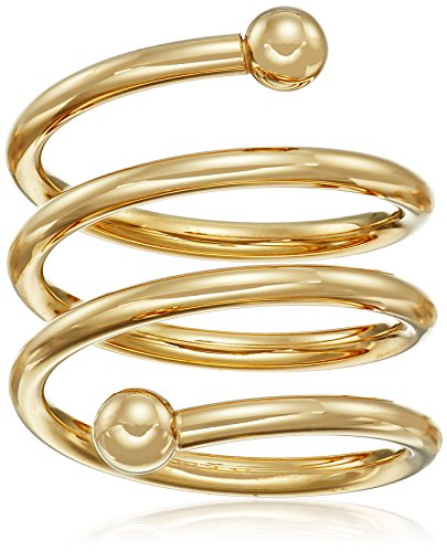 14k-Gold-Bonded-Sterling-Silver-Spiral-Ring-Size-7