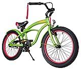 BIKESTAR® Premium Design Kinderfahrrad für coole Kids ab 6 Jahren ★ 20er Deluxe Cruiser Edition ★ Gecko Grün