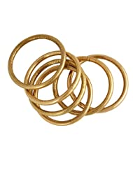 Gold & More Antique Gold Plated Bangles For Women (4063)