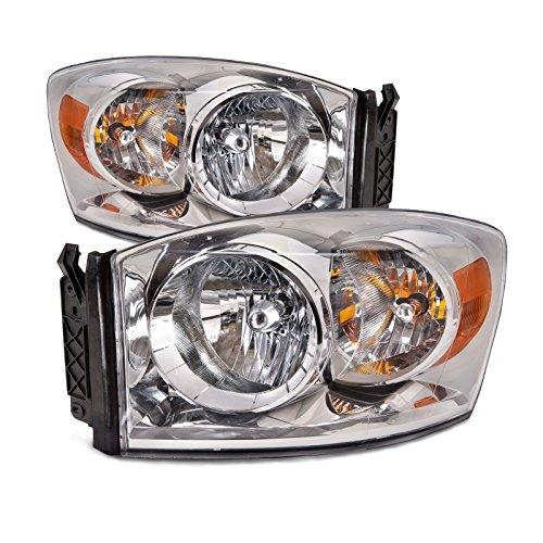 Dodge Ram Pickup OE Style Replacement Headlight Headlamp Pair (Oe Headlights compare prices)