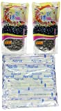 2Packs of BOBA Black Tapioca Pearl Bubble With 1 Pack of 50 BOBA STRAW