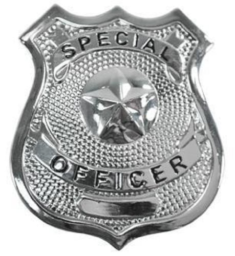 Fake Silver Special Officer Law Enforcement Badge Pin on Metal Costume Replica