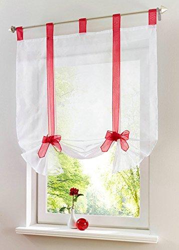 Uphome 1pcs Cute Bowknot Tie Up Roman Curtain