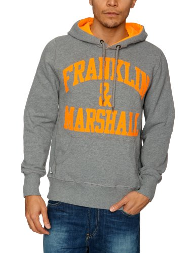 Franklin & Marshall FLMR667S13 Men's Sweatshirt Grey Melange Large