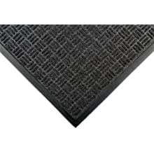 "Notrax 167 Portrait Entrance Mat, for Lobbies and Indoor Entranceways, 4' Width x 6' Length x 1/4"" Thickness, Charcoal"