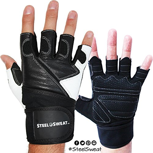 Gym Gloves Weight Lifting Leather Workout Wrist Support: Steel Sweat Weightlifting Gloves With Wrist Wrap Support