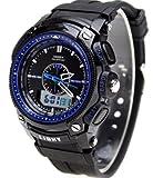 50m Water-proof Digital-analog Boys Girls Sport Digital Watch with Alarm Stopwatch Chronograph Blue